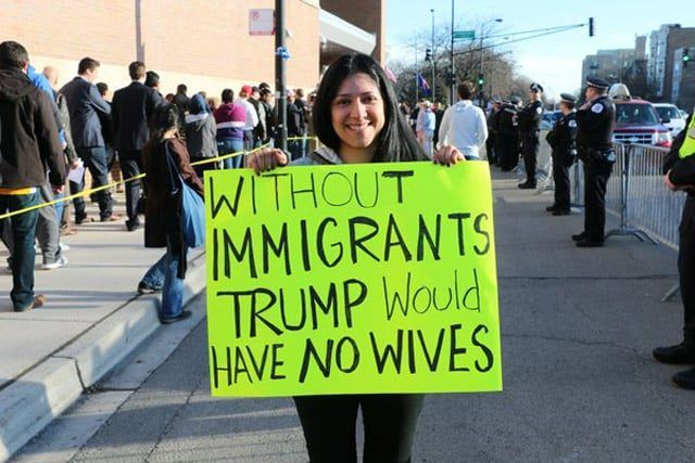 Funniest Donald Trump protester signs