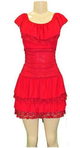 RED BOHO LACE SUN DRESS SUNDRESS SMALL - viXXen Clothing