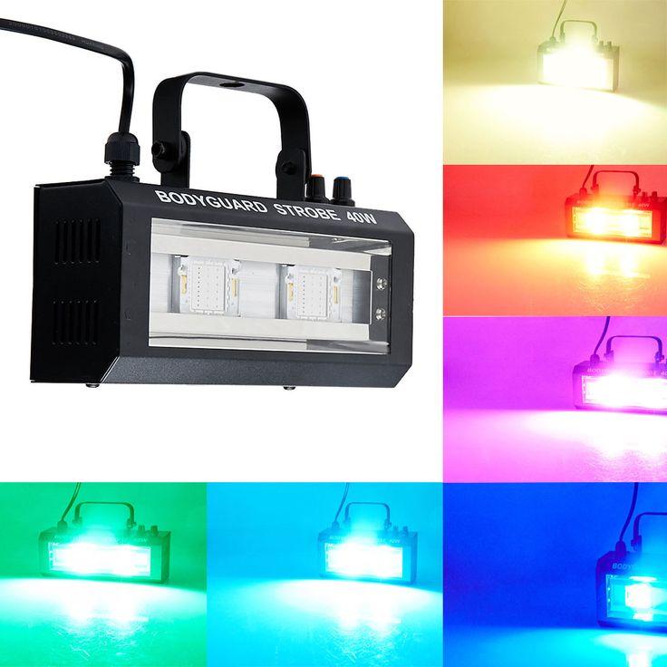 MINI DMX Voice Controled 40W  Party Disco DJ Light Music Show Projector RGB/White Effect home entertainment Led disco light #Affiliate
