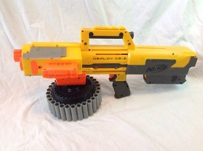 Nerf N-Strike Deploy CS-6 With Tactical Light and 35 Round Drum LOOK!!!