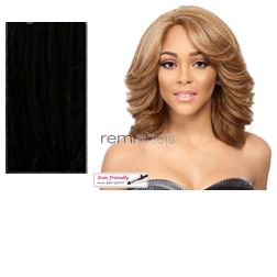 Swiss Lace Front Adonia - Color 1 - Synthetic (Curling Iron Safe) Swiss Lace Front Wig