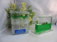 Allure Scenic Floaties salt & pepper shakers, napkin holder. Frogs