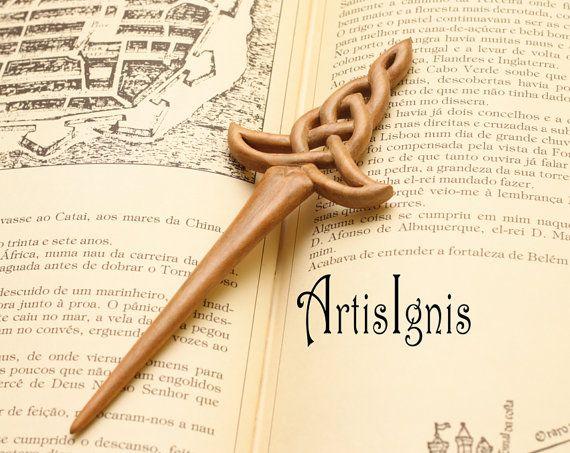 Celtic Sword Hair Stick handcarved in Alder Wood by ArtisIgnis, €25.00