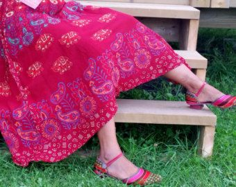 Exclusive 100% Soft Rayon Red Wrap skirt (Shipped from Canada) US$ 23.57