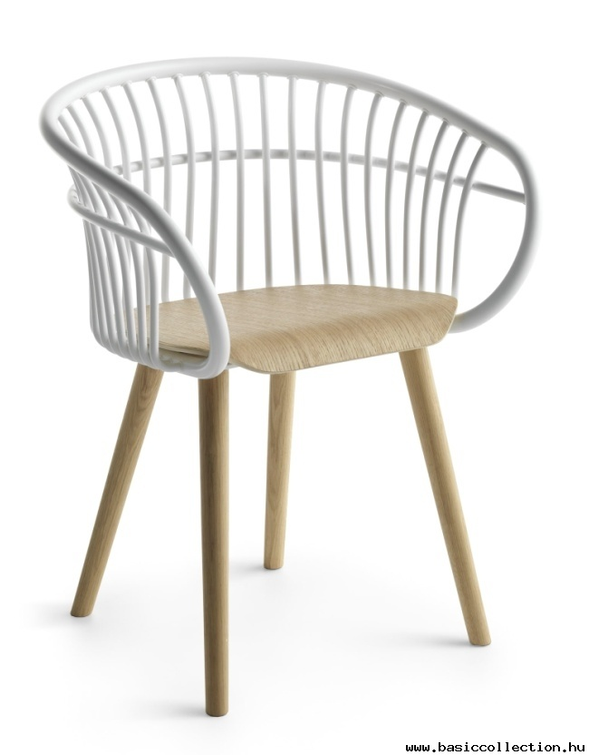 Basic Collection, Stem Armchair #design #furniture #outdoor #metal #wood #white