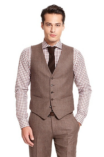 'Howard/Court' | Modern Fit, Virgin Wool 3-Piece Suit by BOSS Selection