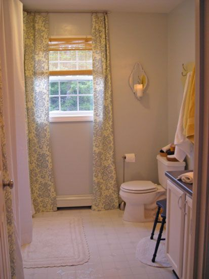 Picture Gallery Website Budget bathroom makeover mirrored sconce painted vanity DIY towel rack