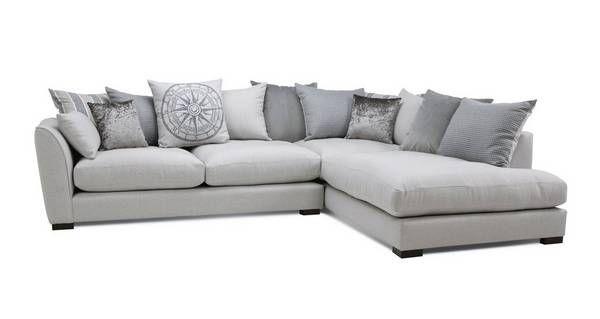 innovative design 868cd 11057 Explorer Pillow Back Left Hand Facing Arm Large Corner Sofa ...
