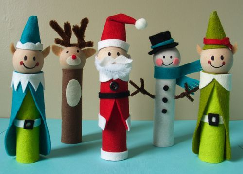 this is so cute: Crafts For Kids, Wooden Dolls, Crafts Ideas, Kids Christmas Crafts, Xmas Crafts, Kids Crafts, Christmascrafts, Holiday Crafts, Fingers Puppets