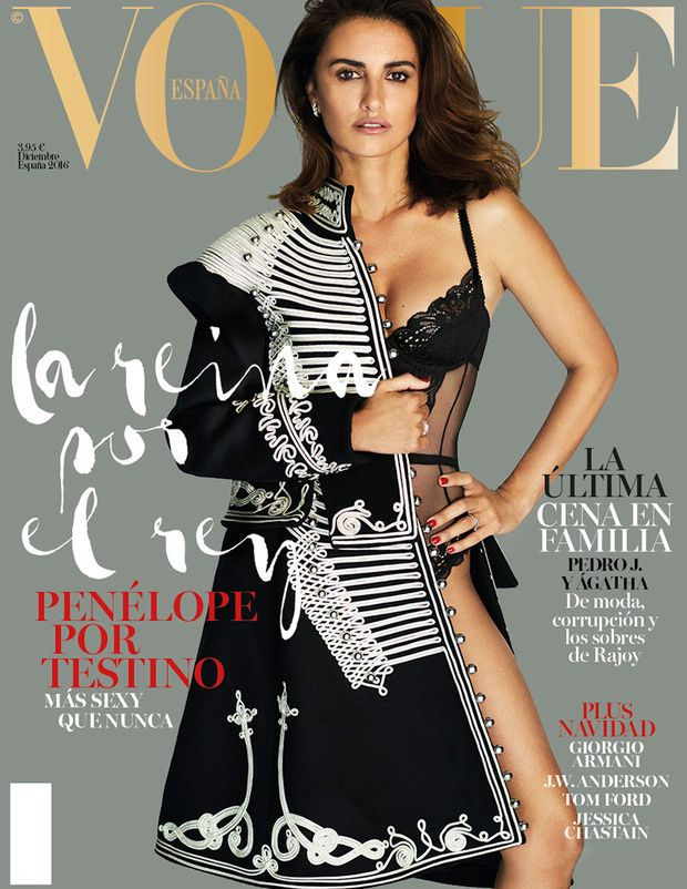 Penélope Cruz by Mario Testino Vogue España December 2016                                                                                                                                                                                 More