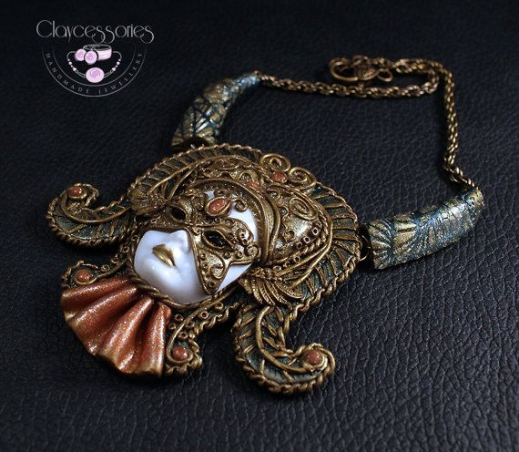 Statement Mask Necklace / Venetians Mask / Mack by claycessories