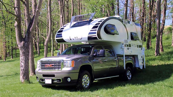 Cirrus 820 truck camper on a short bed truck, http://www.truckcampermagazine.com/news/tcm-exclusive-2017-cirrus-820/