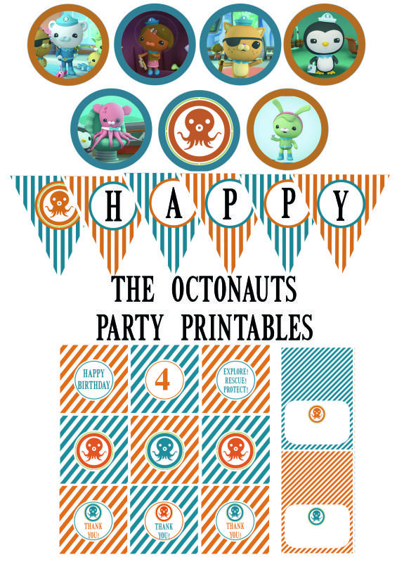 FREE OCTONAUTS PARTY PRINTABLES - I'm sharing the love with other Octonauts fans and posting these on my blog for free :)