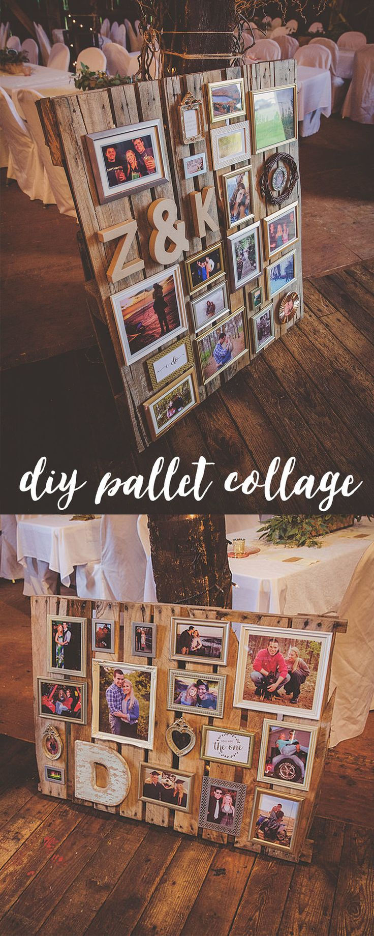 DIY wedding pallet collage