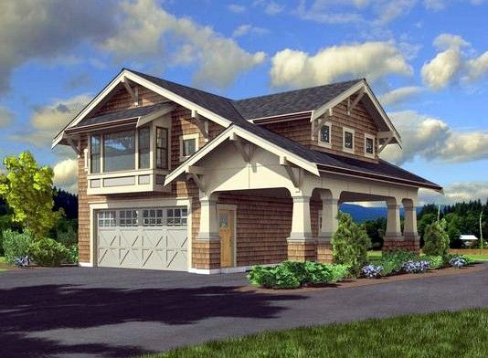 Plan 23484jd craftsman garage apartment garage for Home plans with apartments attached