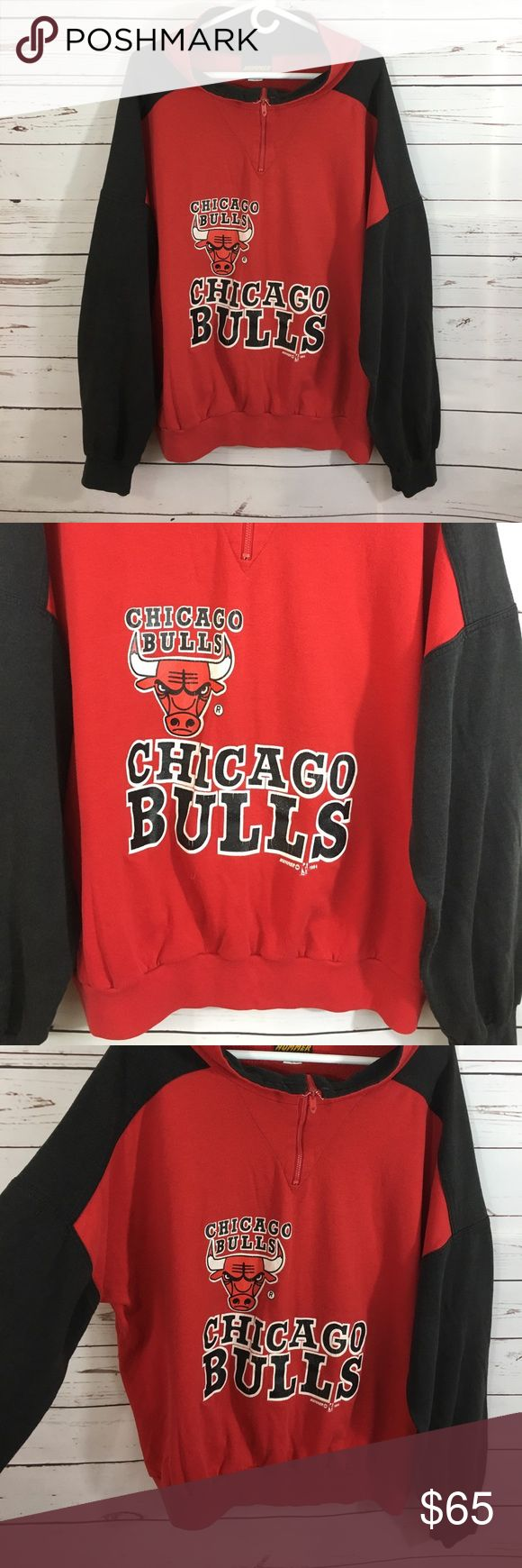 Vintage Chicago Bulls sweatshirt USA made Epic vintage bulls sweatshirt! Says xl, fits like Men's Large. Made in the USA! 1994. Chicago Bulls Shirts Sweatshirts & Hoodies