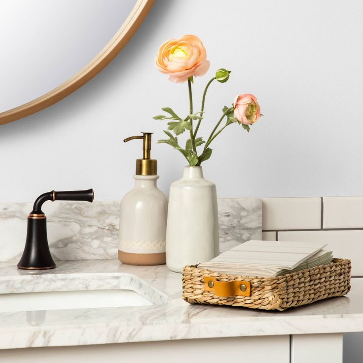 Disposable Hand Towel Holder With Leather Handles Hearth Hand With Magnolia In 2020 Hand Towel Holder Disposable Hand Towels Towel Holder