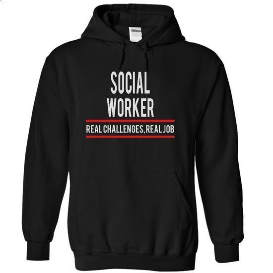SOCIAL WORKER - real job - #design shirts #street clothing. BUY NOW => https://www.sunfrog.com/Funny/SOCIAL-WORKER--real-job-2639-Black-4898694-Hoodie.html?60505