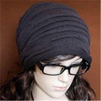 Unisex Men Women Winter Cap Hat Baggy Beanie Knit Crochet Ski oversized