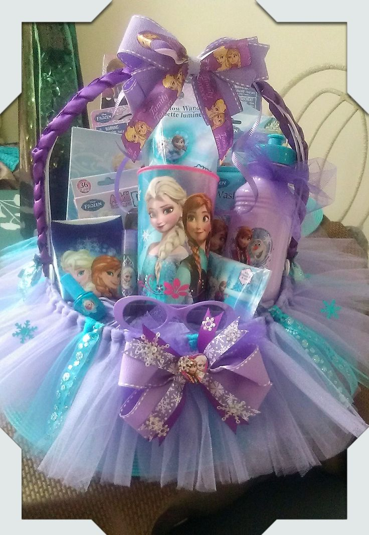 Frozen Gift Basket Made By Norma's Unique Gift Baskets