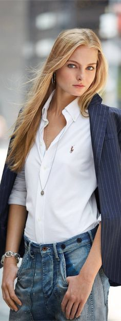 Ralph Lauren  •  @roressclothes closet ideas women fashion outfit clothing style apparel