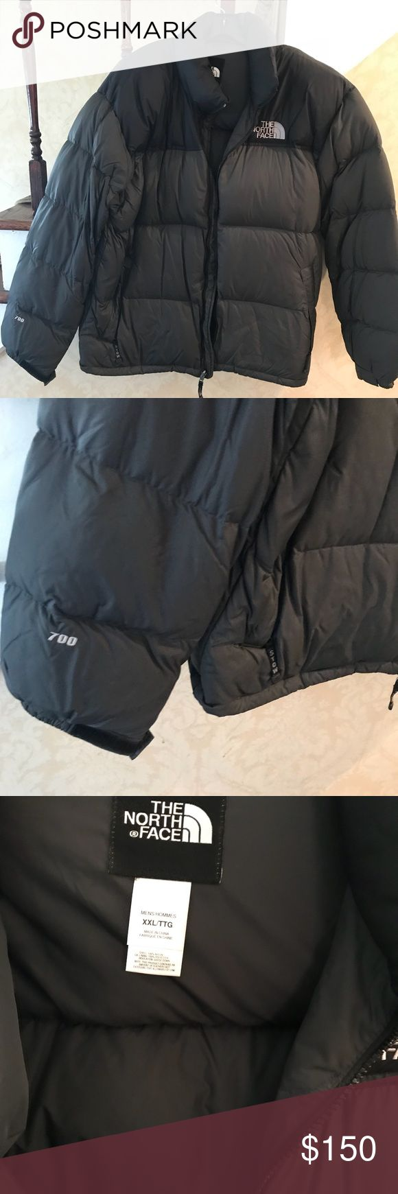 North face down jacket North face men's down jacket 700 fill preworn good condition. Size xxl but fits xl as well . Charcoal gray and black . North Face Jackets & Coats Puffers