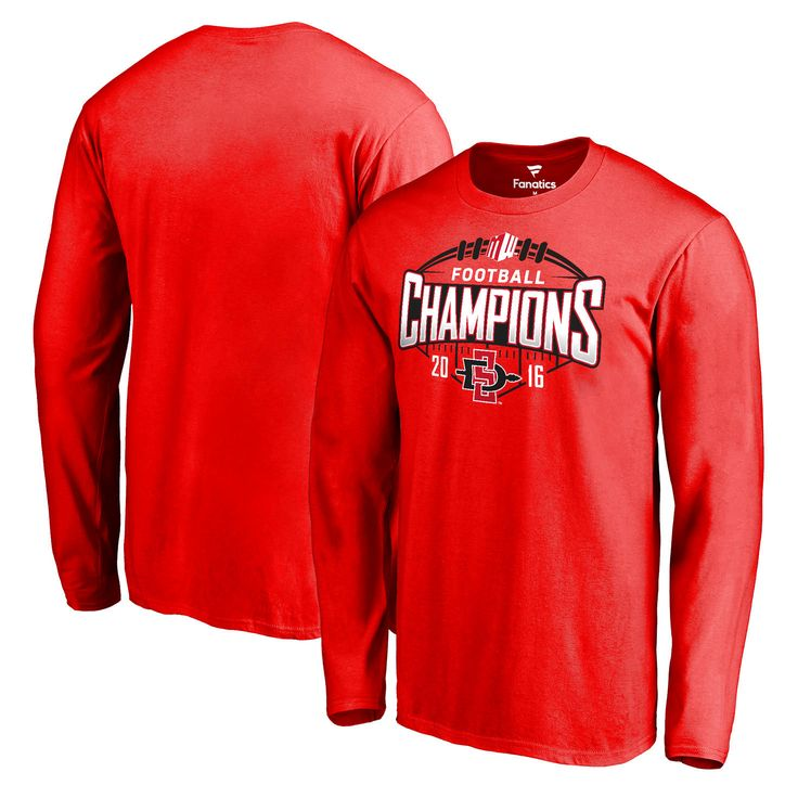 San Diego State Aztecs Fanatics Branded 2016 Mountain West Conference Football Champions Long Sleeve T-Shirt - Red - $27.99