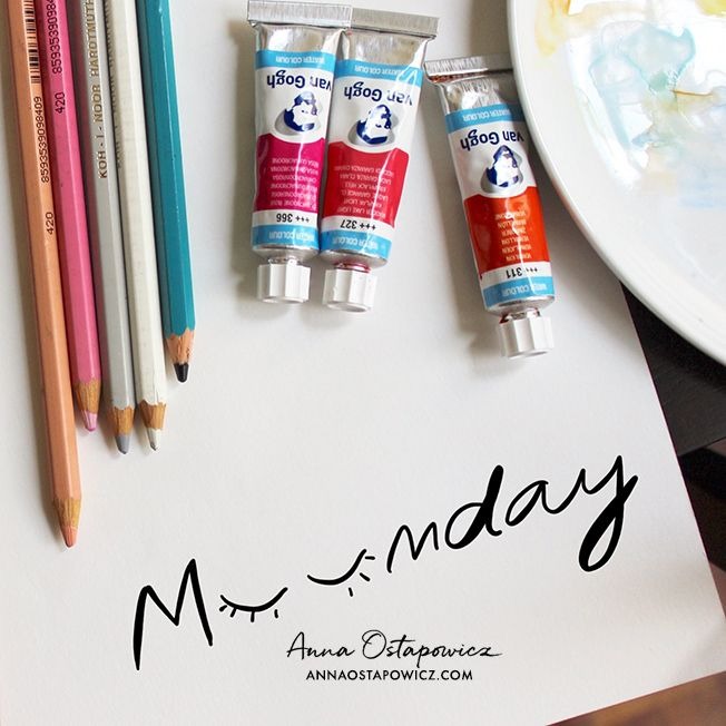 Monday, Illustration Anna Ostapowicz, #monday, #typography, #quote, #drawing