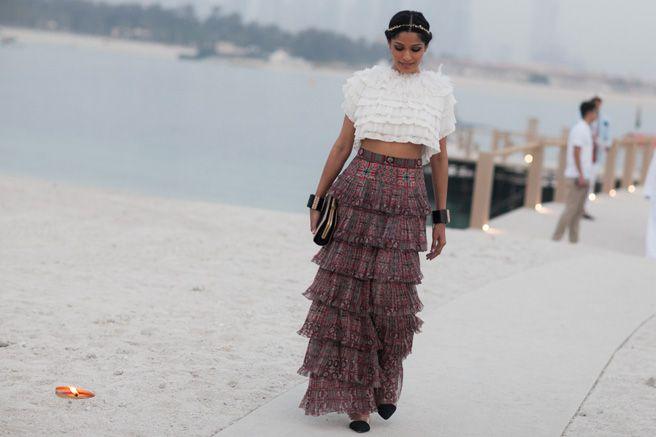 Chanel Resort 2015: Dubai Street-Style Photos Starring Dakota Fanning, Tilda Swinton, and More