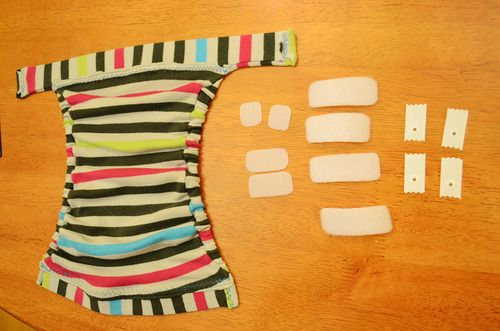 A very photo-heavy guide to sewing a faux gDiaper cover from an upcycled shirt | Offbeat Families