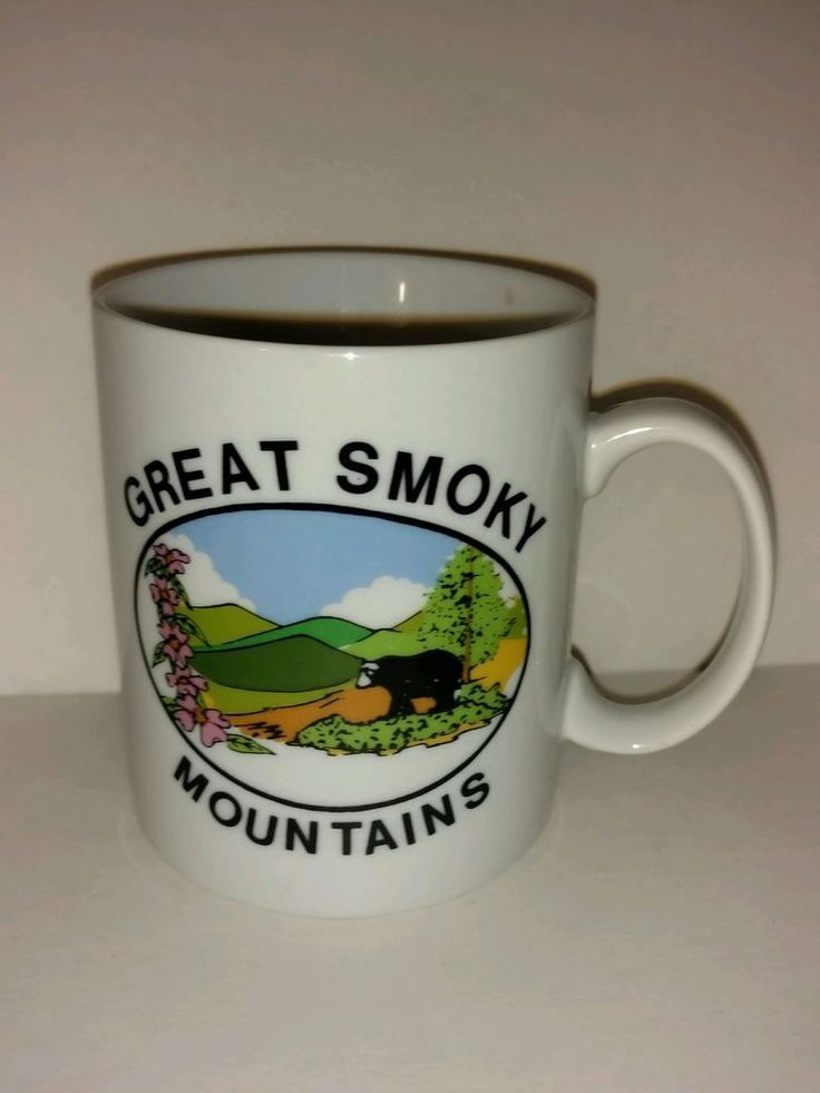 Travel Souvenir Coffee Mug Great Smoky Mountains