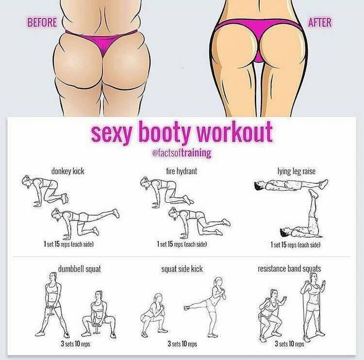 Booty workouts. Butt exercises.