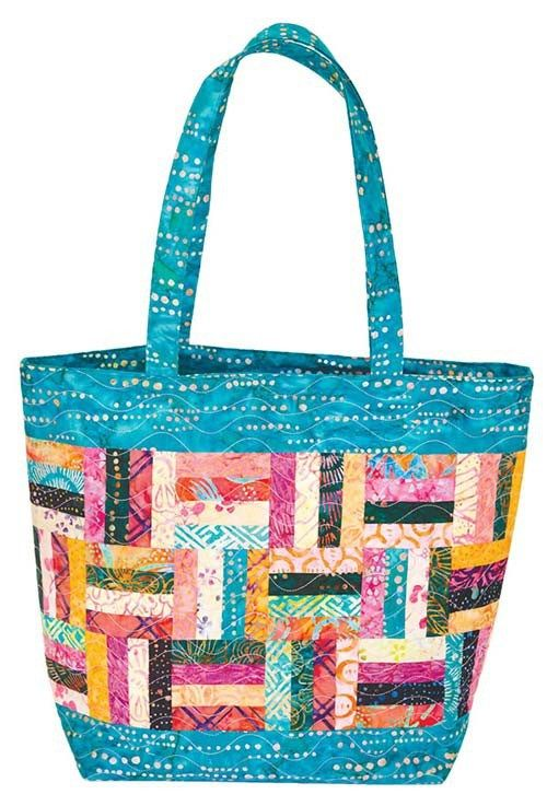 The Island Breeze Quilted Batik Tote == A PDF Sewing Pattern by Sue Pfau and Video by Colleen Tauke