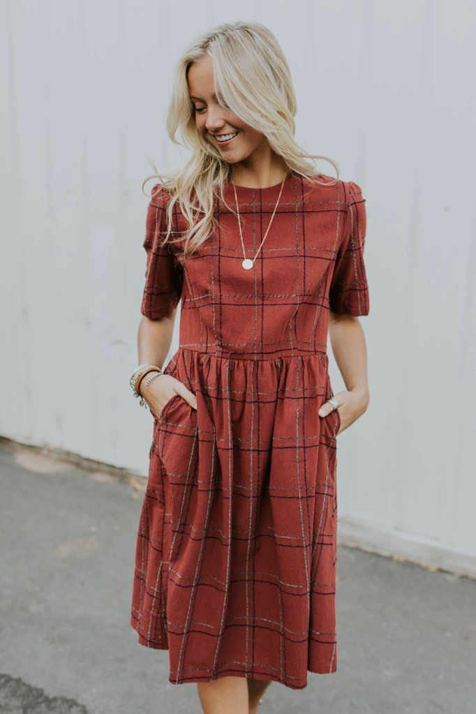Monaco Grid Dress