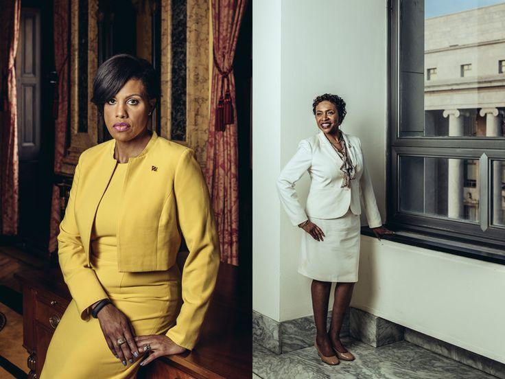 Baltimore Mayor Stephanie Rawlings-Blake and Congresswoman Yvette Clark, for the Wall Street Journal