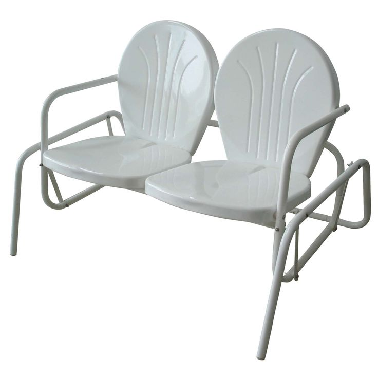 Sit Back And Relax On This Double Seat Glider Chair. This Generously Sized  Glider Part 19