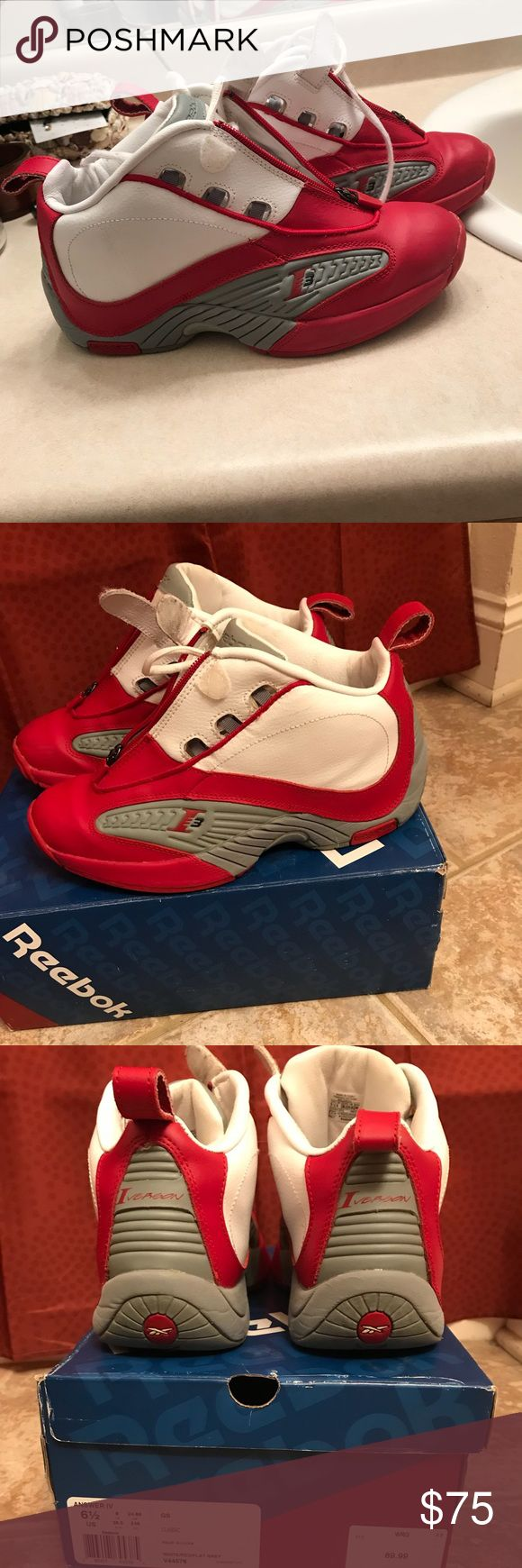 Allen Iverson Answer IV Size 6.5 in Kids 8-8.5 in Women  Offers accepted! Reebok Shoes Athletic Shoes