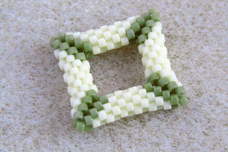 3D Négyzet fűzése peyote technikával, Peyote square tutorial