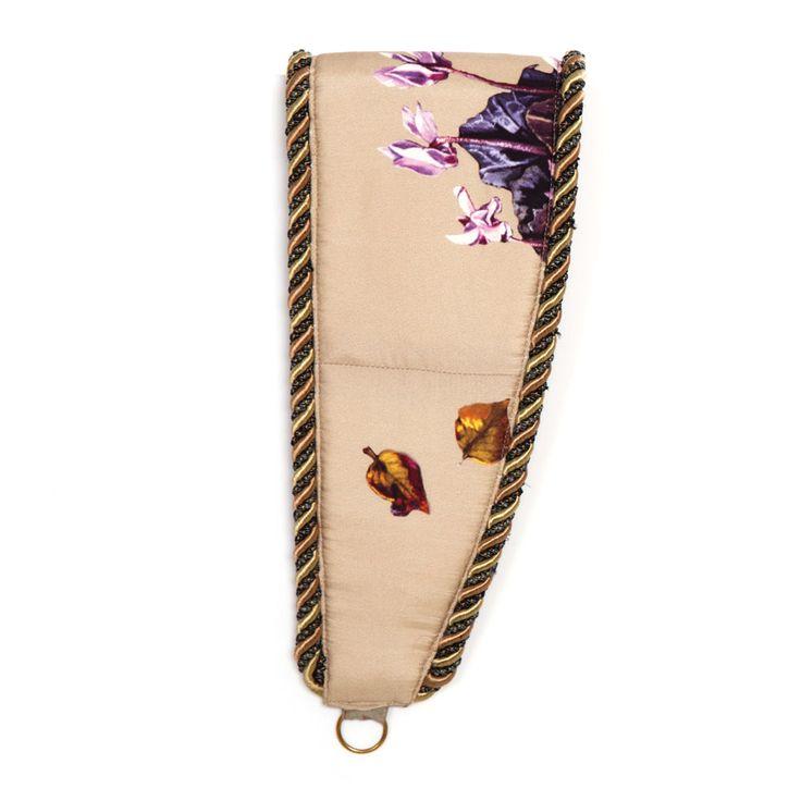 Anna Dempsey Designs Tie Backs - Cyclamen in Stone