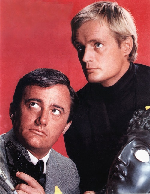 Napoleon Solo (Robert Vaughn) and Illya Kuryakin (David McCallum): 'The Man From Uncle'