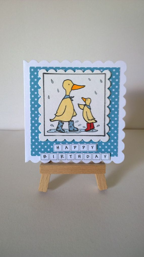 Handmade Ducks Birthday Card by Lazymitts on Etsy