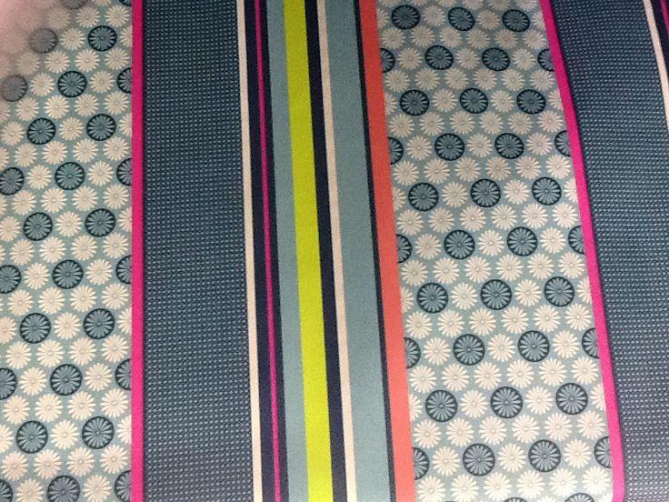 tissus coton enduit à rayures vintage en 1,50m de large : Tissus Ameublement par tiss-affaires