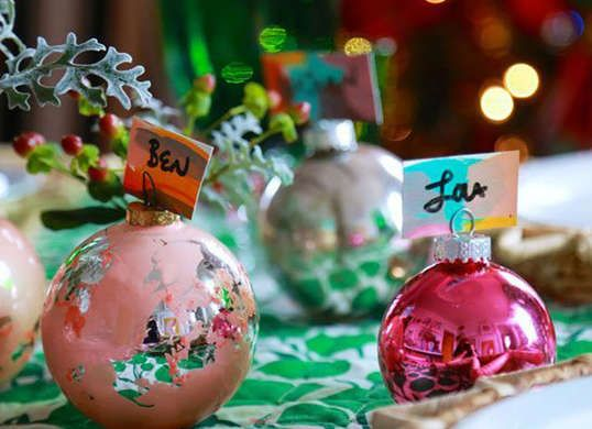 12 other ways to decorate with xmas ornaments beauty tablediy card cardsarts