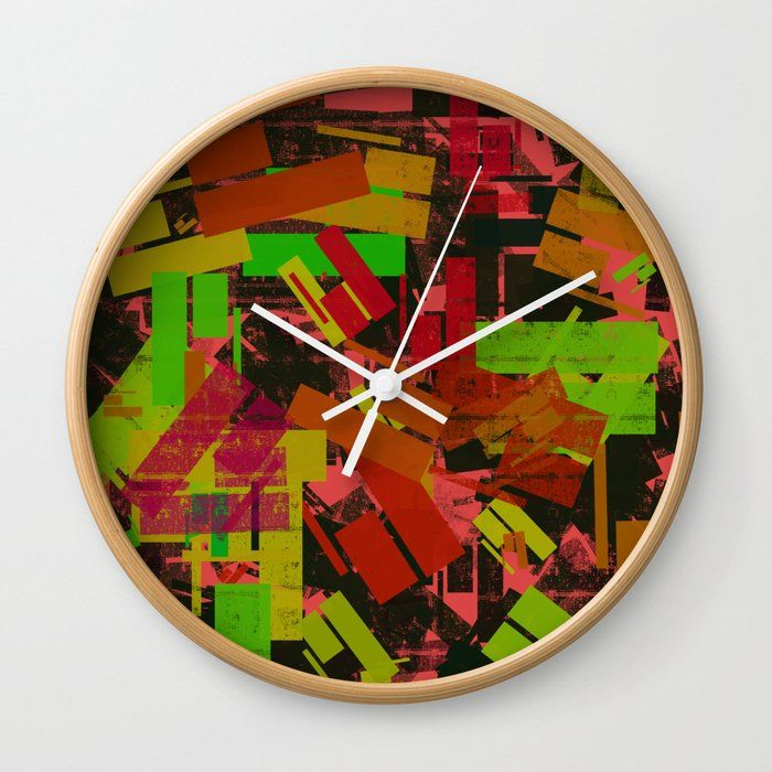Good Times Rethink The Traditional Timepiece As Functional Wall Decor You Ll Love How Our Artists Are Converting Some Of T In 2020 Office Wall Clock Clock Wall Clock