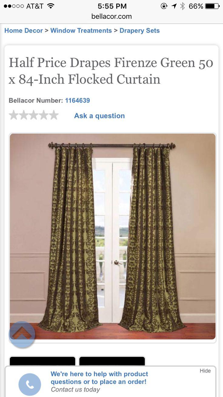 http://www.bellacor.com/productdetail/half-price-drapes -ptfflk-c7-84-firenze-green-50-x-84-inch-flocked-curtain-1164639.htm?partid=googlePLA-DataFeed-  ...