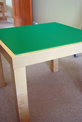 """DIY Lego table - Mine will be quite different. Plywood on plastic roller drawers. I want to make one of these for """"the boy's"""" room."""