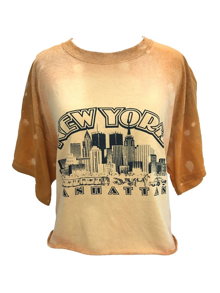 Hand-dyed Twin Towers Cropped T-Shirt