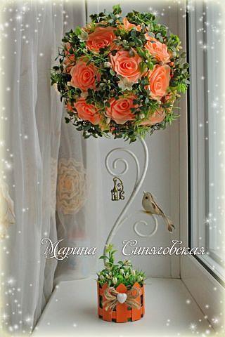 Топиарий с розами