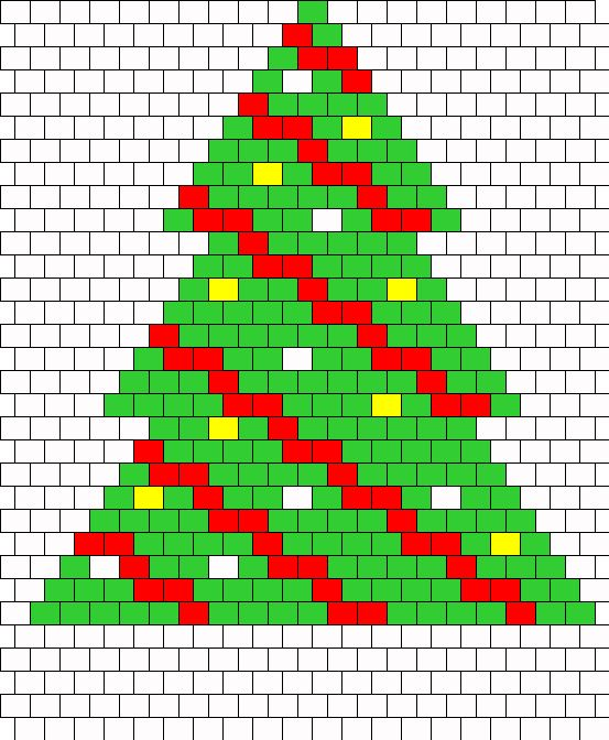 Christmas Tree Peyote 2 Bead Pattern | Peyote Bead Patterns | Holidays Bead Patterns