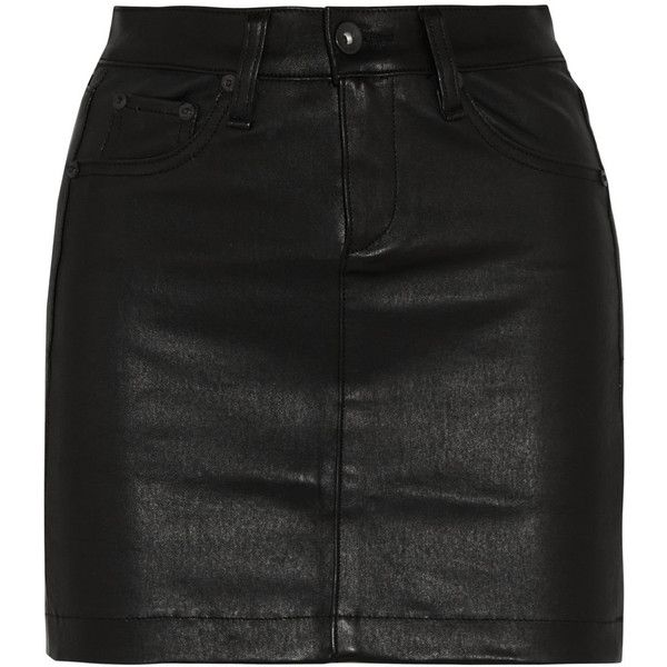 Rag & bone JEAN Leather mini skirt found on Polyvore